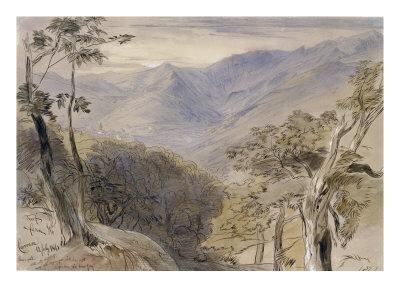 Carrara, Italy, 1861 Giclee Print by Edward Lear