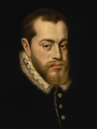 Portrait of King Philip II of Spain Lmina gicle