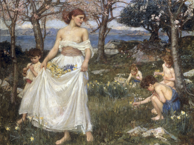 A Song of Springtime, 1913 Giclee Print by John William Waterhouse