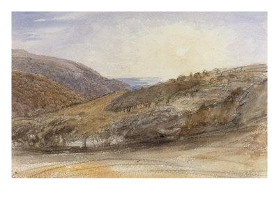 Landscape with Setting Sun, Devon Giclee Print by Samuel Palmer