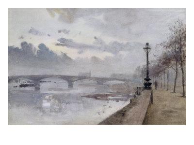 Beside the Thames, 1897 Giclee Print by Rose Maynard Barton
