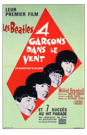 A Hard Day's Night, French Movie Poster, 1964 Anden