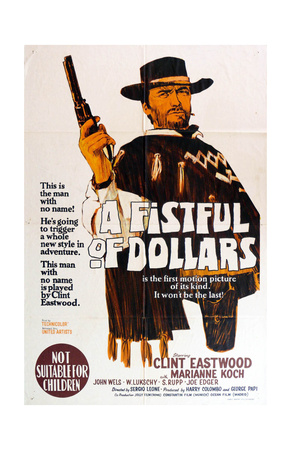 A Fistful of Dollars, Australian Movie Poster, 1964 Premium Poster
