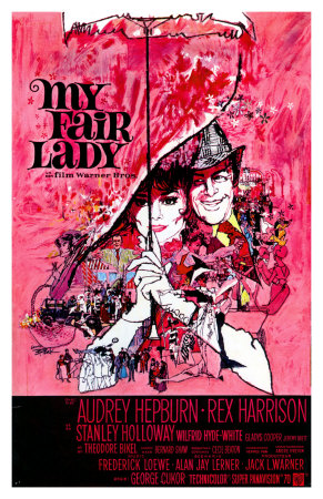 My Fair Lady, Belgian Movie Poster, 1964 Premium Poster