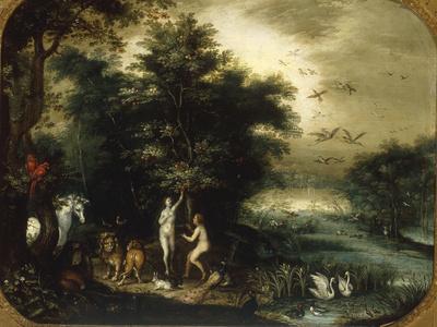 The Garden of Eden Giclee Print by Jan Breugel the Elder