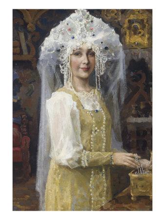 Young Russian Bride Giclee Print by Victor Mikhailovich Vasnetsov