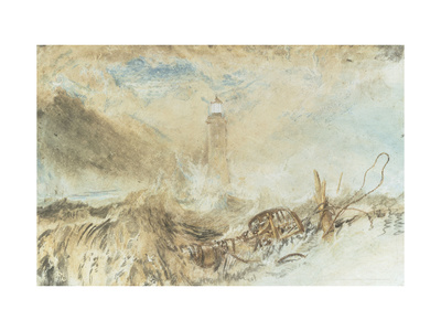 Eddystone Lighthouse off Plymouth Giclee Print by J. M. W. Turner