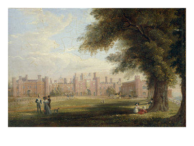A View of Hampton Court Palace, 1827 (One of a Pair) Giclee Print by Henry Bryan Ziegler