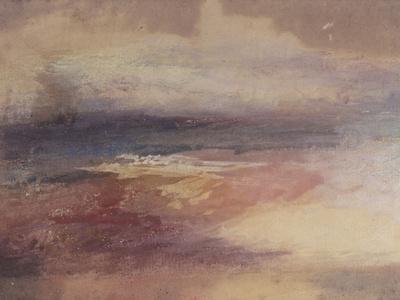 Coastal View at Sunset Giclee Print by J. M. W. Turner