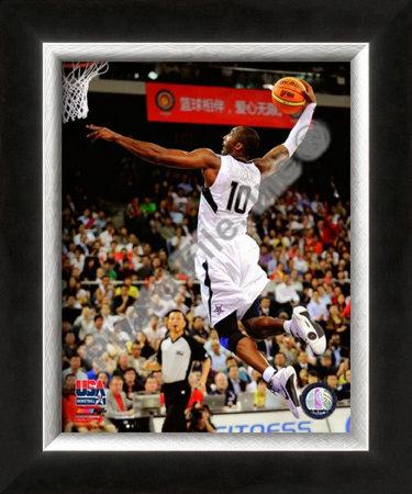 Kobe Bryant Usa Team. Kobe Bryant 2008 Team USA Framed Photographic Print