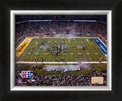 Super Bowl XL - Ford Field - Steelers Celebration Framed Photographic Print