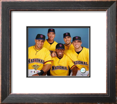 Carlos Beltran, Tom Glavine, Jose Reyes, Paul LoDuca and David Wright 2006 All Star Game Framed Photographic Print