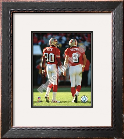 Steve Young and Jerry Rice Framed Photographic Print