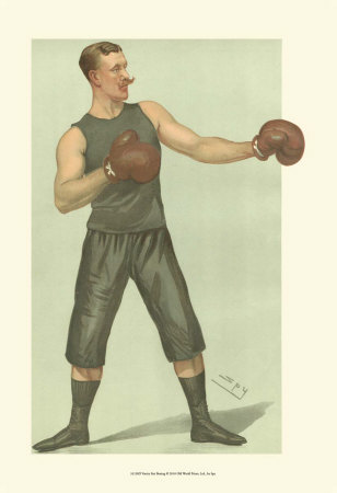 Vanity Fair Boxing Print by  Spy (Leslie M. Ward)