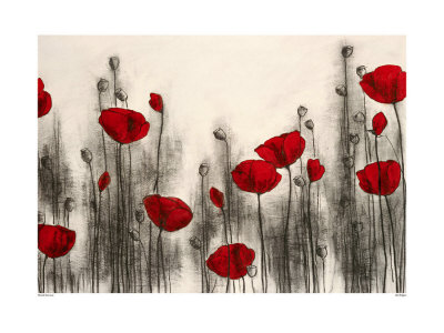 Red Poppies Print by Hans Andkjaer