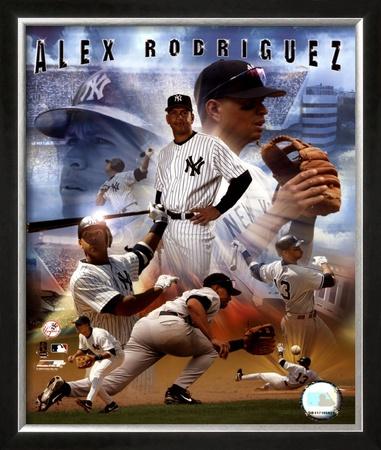 Alex Rodriguez 2005 - Composite Framed Photographic Print