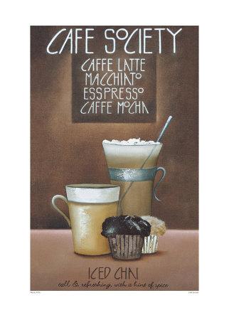 Café Society Prints by Mandy Pritty