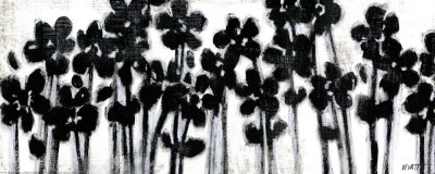 Black Flowers on White II Posters by Norman Wyatt Jr.