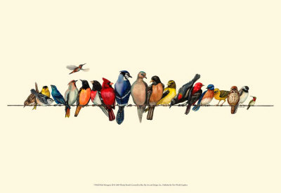 Bird Menagerie III Prints by Wendy Russell