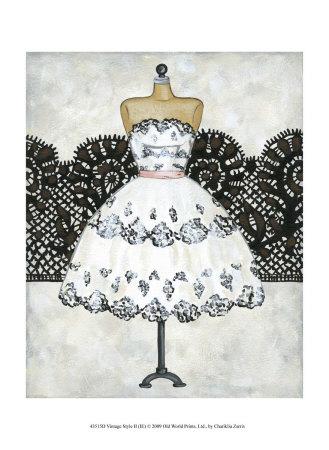 Vintage Style II Art by Chariklia Zarris