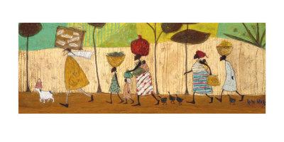 Doris hjælper til på turen til Mzuzu  Kunsttryk