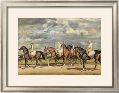 Exercising, Early Morning, Newmarket Posters by Alfred James Munnings