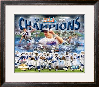 Indianaplois Colts Super Bowl XLI Framed Photographic Print