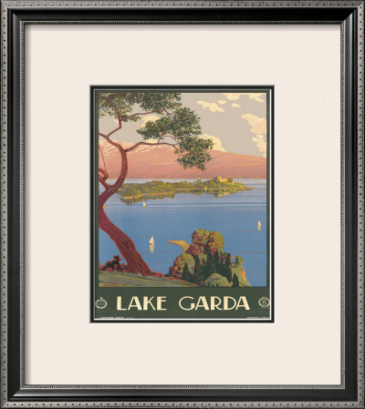 Lake Garda, Italy, c.1930 Framed Giclee Print by Severino Tremator