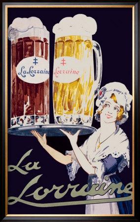 Biere La Lorraine Framed Giclee Print