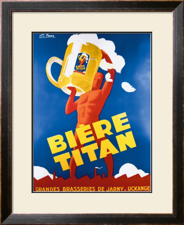 Biere Titan Framed Giclee Print by G. Foure