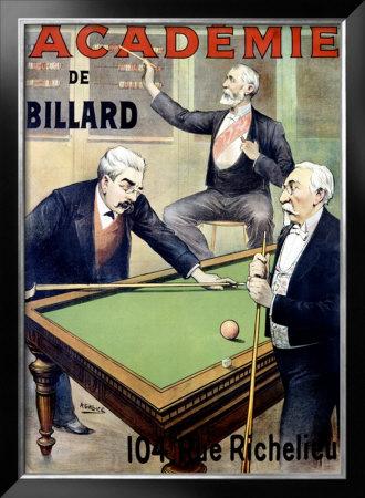 Academie de Billard Framed Giclee Print by A. Gallice