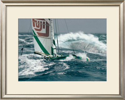 Ocean Racing Poster by Gilles Martin-Raget