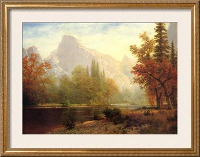 Half Dome, Yosemite Posters by Albert Bierstadt