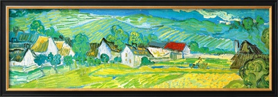 Sunny Meadow in Arles, c.1890 (detail) Art by Vincent van Gogh