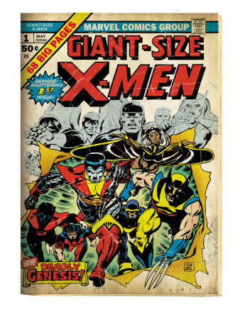 Marvel Comics Retro: The X-Men Comic Book Cover #1 (aged) Reproduction d'art