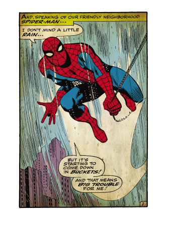 Marvel Comics Retro: The Amazing Spider-Man Comic Panel (aged) Kunstdruck