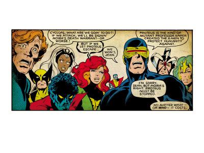 Marvel Comics Retro: X-Men Comic Panel (aged) Umělecká reprodukce