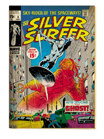 Marvel Comics Retro: Silver Surfer Comic Book Cover #8, the Ghost (aged) Art Print