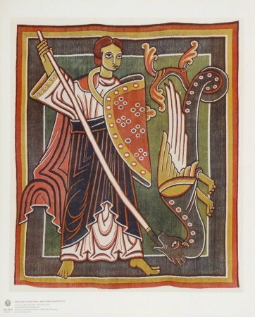 Archangel Michael the Dragon Killer Collectable Print