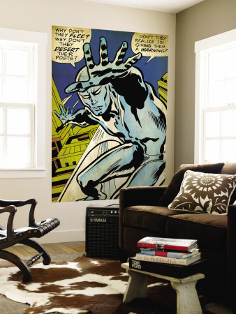 Marvel Comics Retro: Silver Surfer Comic Panel (aged) Vægplakat