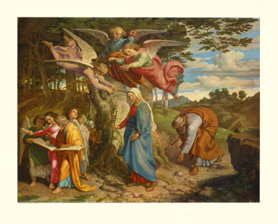 Virgin Crossing the Mountain, c.1841 Collectable Print by Joseph Fuehrich