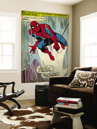 Marvel Comics Retro: The Amazing Spider-Man Comic Panel (aged) Mural