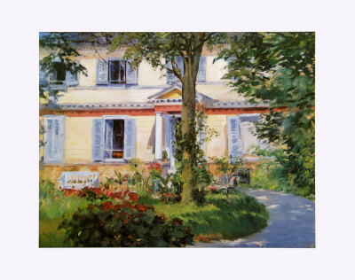The House in Rueil, c.1882 Posters by Édouard Manet