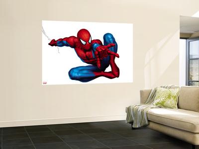 Spider man shooting wall mural at - Poster mural spiderman ...
