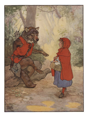 Illustrtation From Little Red Riding Hood Art Print