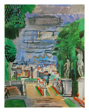 Le Parc de Saint Cloud, c.1919 Reproduction d'art