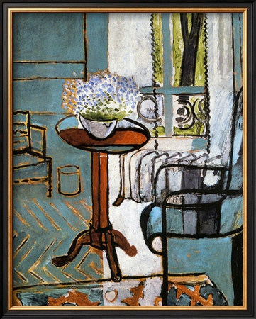 Forget-Me-Nots in the Window Framed Giclee Print by Henri Matisse