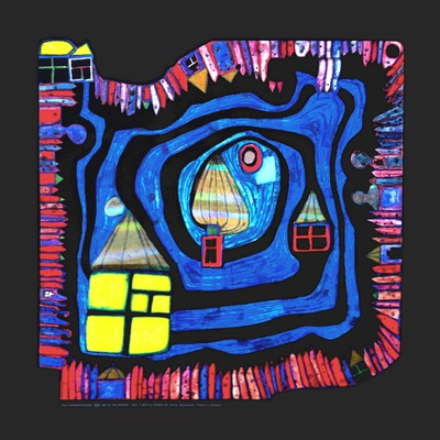 End of the Waters, c.1979 Print by Friedensreich Hundertwasser