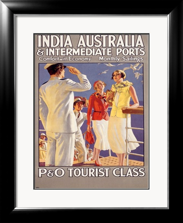 India to Australia with P&O Framed Giclee Print