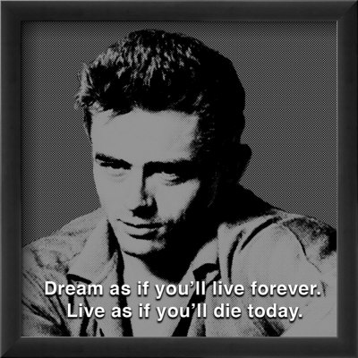 James Dean: Live Affiche encadre